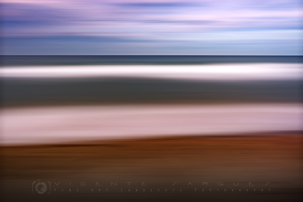 Playa abstracta en capas