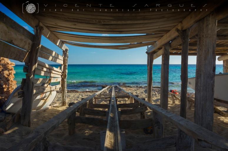 Hacia el mar. Playa Mijorn. Formentera