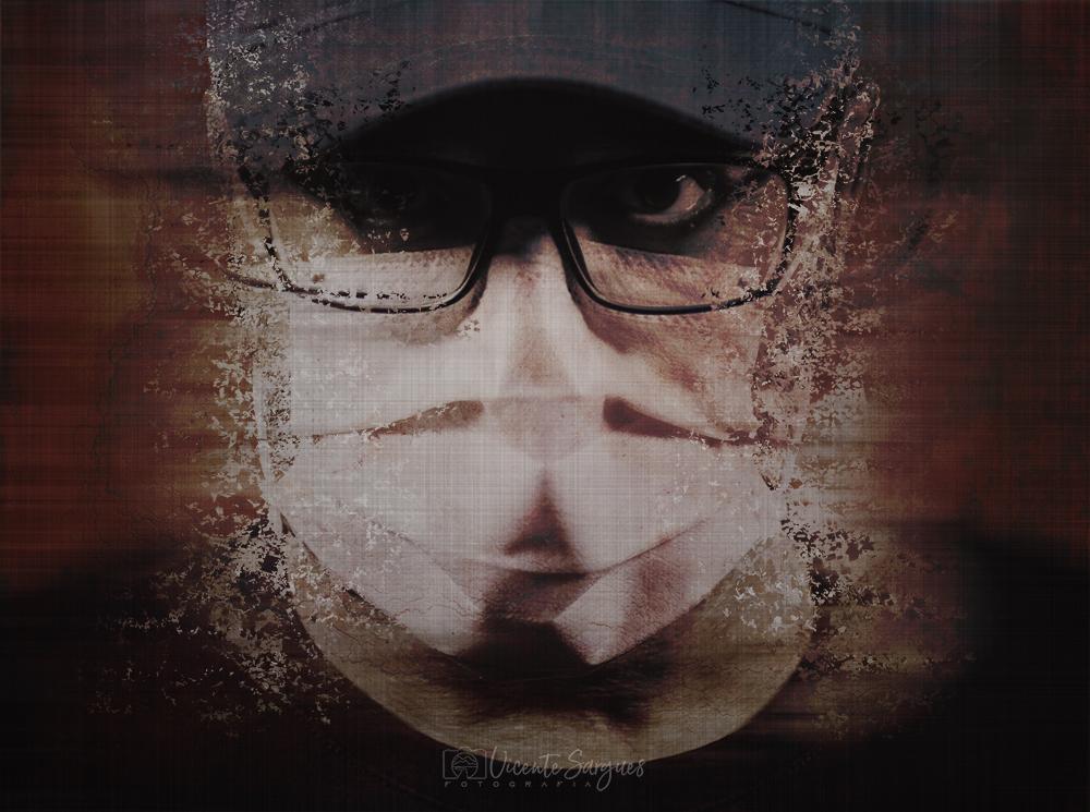 Retrato con máscara sanitaria