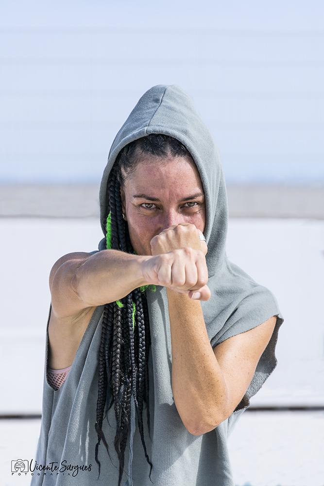 Mujer boxeadora